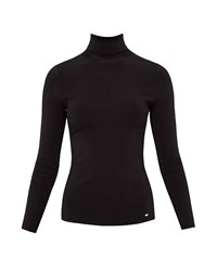Ted Baker Helic Fitted Roll Neck Jumper Black