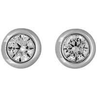 Jools By Jenny Brown Cubic Zirconia Small Round Pod Stud Earrings