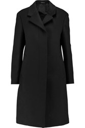 Jil Sander Fleece Wool And Cashmere Blend Coat Black