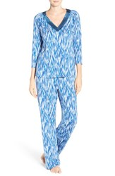 Midnight By Carole Hochman Women's Jersey Pajamas Storm Blue