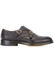 Doucal's Textured Monk Shoes Brown