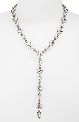 Women's Baublebar 'Ynez' Y Chain Necklace Clear Antique Gold