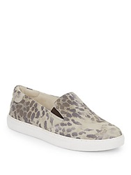 Kenneth Cole King Animal Print Leather Slip On Sneakers Cheetah