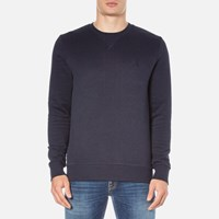 Calvin Klein Men's Hatch Crew Neck Sweatshirt Night Sky Heather Blue
