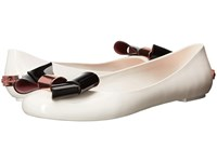 Ted Baker Faiyte Cream Black Synthetic Women's Dress Flat Shoes White
