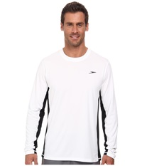 Speedo Longview Long Sleeve Swim Tee White Men's Swimwear