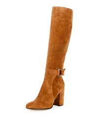 Gianvito Rossi Suede 85Mm Tall Buckle Boot Texas