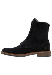 Marc O'polo Laceup Boots Navy Dark Blue