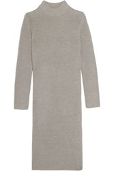 Iris And Ink Violeta Ribbed Wool Tunic Gray