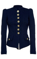 Andrew Gn Military Blazer Navy