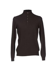 Boss Black Turtlenecks Dark Brown