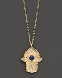 Meira T Diamond Hamsa And 14K Yellow Gold Necklace No Color