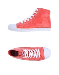 Civic Duty High Top Sneakers Blue