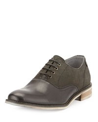 Joe's Jeans Joe's Stamp Two Tone Lace Up Oxford Black