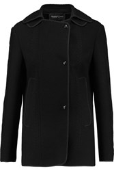 Pringle Of Scotland Cable Knit And Woven Wool Jacket Black