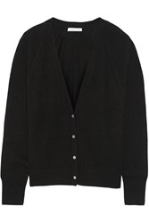 Duffy Cropped Cashmere Cardigan Black