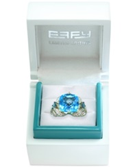 Effy Collection Effy Limited Edition Blue Topaz 7 7 8 Ct. T.W. And Diamond 3 4 Ct. T.W. Ring In 14K Gold