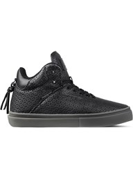 Clear Weather Black Perf Leather The One Ten Mid Top Sneakers