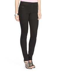 Lauren Ralph Lauren Seamed Stretch Cotton Leggings Black