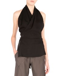 Rick Owens Halter Neck Wrap Blouse Black Women's