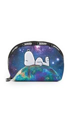 Le Sport Sac Peanuts X Lesportsac Medium Dome Cosmetic Case Top Of The World