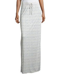 Joie Molimo Printed Jersey Maxi Skirt New Moon
