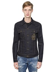 Dolce And Gabbana Embroidered Stretch Denim Jacket