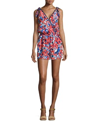 Alice And Trixie Abigail Floral Printed Silk Jumpsuit