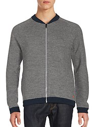Strellson Baseball Heathered Zipped Jacket Grey