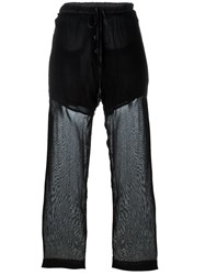 Lost And Found Sheer Loose Trousers Black