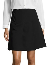 Tommy Hilfiger Pleated A Line Skirt Black