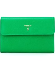 Serapian Flap Wallet Green
