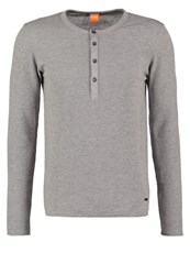Boss Orange Topsider Long Sleeved Top Grey