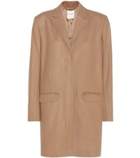 Wood Wood Wool Blend Coat Beige