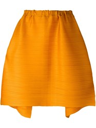 Issey Miyake Pleats Please By Pleated Midi Skirt Yellow Orange
