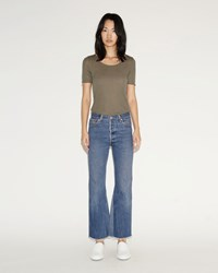 Re Done High Rise Flare Jeans Blue