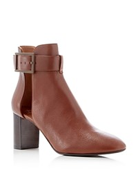 Aquatalia By Marvin K Valli Dolomite Buckled High Heel Booties Caramel