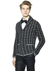 Gabriele Pasini Wool And Mohair Blend Jacquard Cardigan