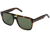Saint Laurent Sl 87 Light Havana Green Barberini Mineral Lens Fashion Sunglasses Brown