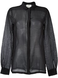 Forte Forte Semi Sheer Shirt Black