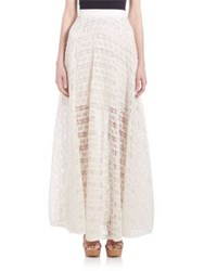 Milly Raffia Net Maxi Skirt White