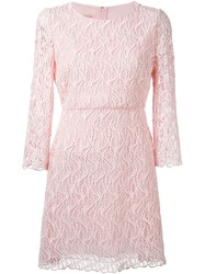 Giambattista Valli Embroidered Mini Dress Pink And Purple