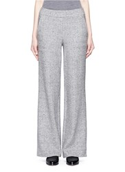 Theory 'Talbert' Cotton Silk Blend Herringbone Pants Grey