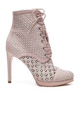 Zimmermann Weave Booties In Pink