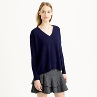 J.Crew Collection Cashmere Boyfriend V Neck Sweater