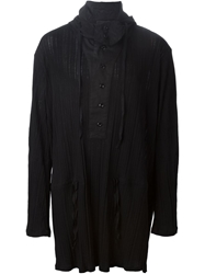 Ann Demeulemeester Hooded Cape Shirt Black