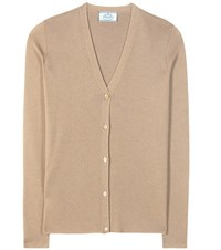 Prada Cashmere And Silk Cardigan Brown