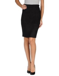 Iceberg Knee Length Skirts Black