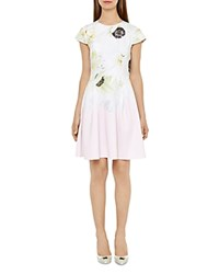 Ted Baker Petala Pearly Petal Dress Nude Pink