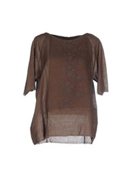 By Walid Shirts Blouses Women Cocoa